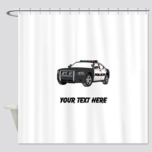 Police Car (Custom) Shower Curtain