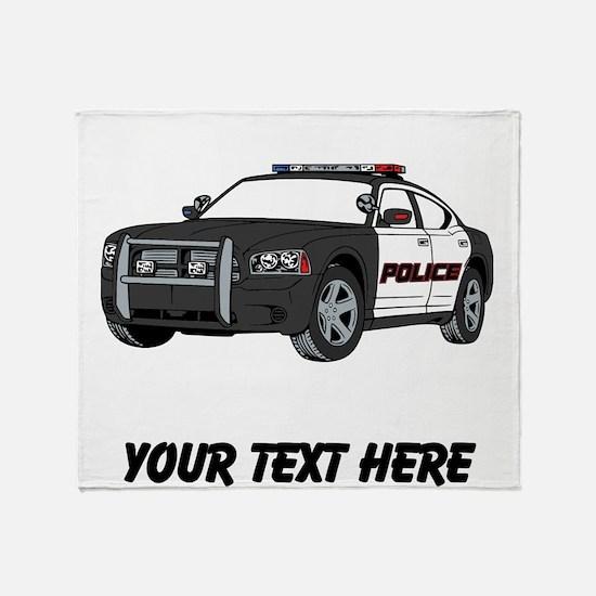 Police Car (Custom) Throw Blanket