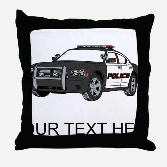 Police Car (Custom) Throw Pillow