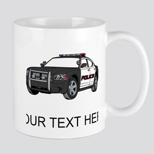 Police Car (Custom) Mugs