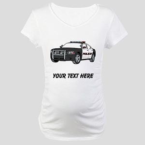 Police Car (Custom) Maternity T-Shirt