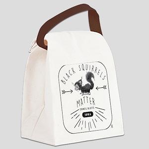 Black Squirrels Iowa Nature Canvas Lunch Bag