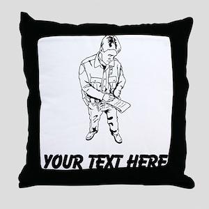 Policeman Writing Ticket (Custom) Throw Pillow