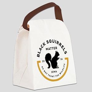 Black Squirrels Matter Iowa Canvas Lunch Bag