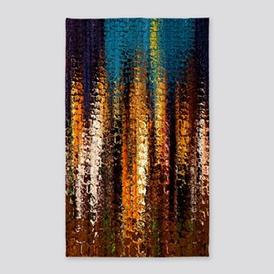 Abstract Rock Spires 3'x5' Area Rug