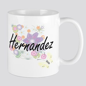 Hernandez surname artistic design with Flower Mugs