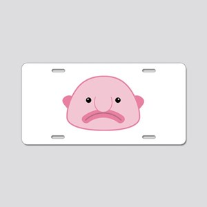 Blobfish Aluminum License Plate