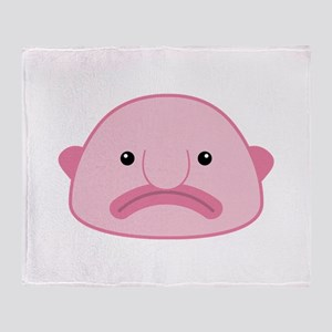 Blobfish Throw Blanket