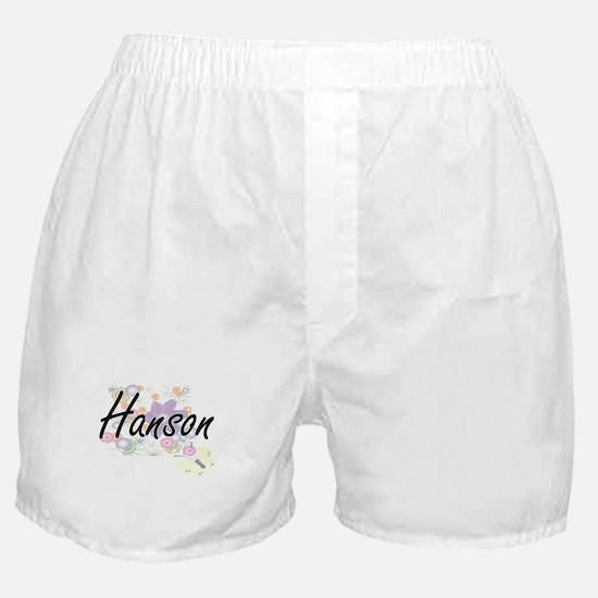 Hanson surname artistic design with F Boxer Shorts