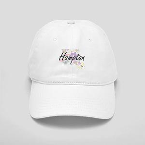 Hampton surname artistic design with Flowers Cap
