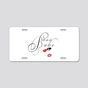 Boss Babe Lipstick Aluminum License Plate