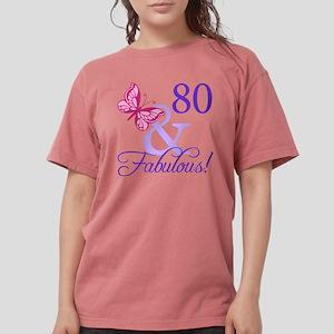 80th Birthday Butterfly T Shirt