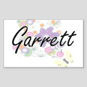 Garrett surname artistic design with Flowe Sticker