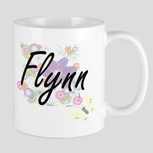 Flynn surname artistic design with Flowers Mugs