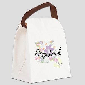 Fitzpatrick surname artistic desi Canvas Lunch Bag