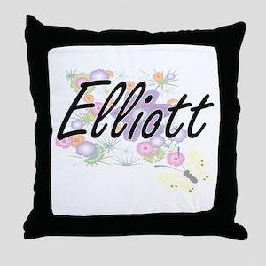Elliott surname artistic design with Throw Pillow