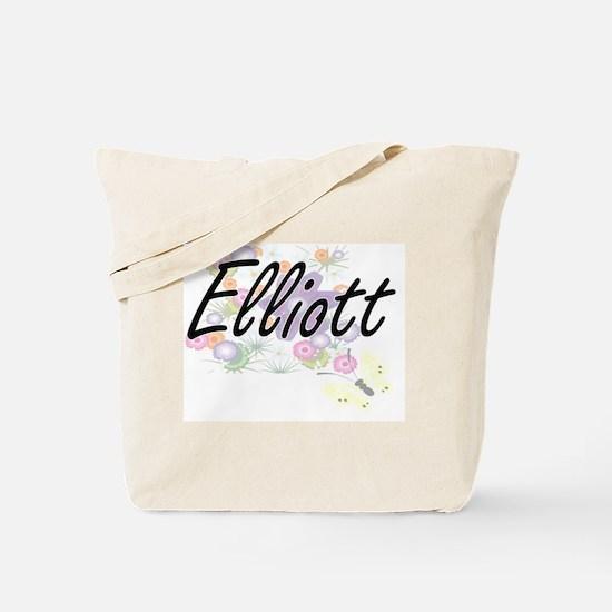 Elliott surname artistic design with Flow Tote Bag