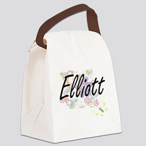 Elliott surname artistic design w Canvas Lunch Bag