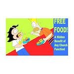 Free Church Food! 35x21 Wall Decal