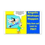 Angelic Mishaps 20x12 Wall Decal