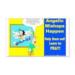 Angelic Mishaps 20x12 Wall Decal