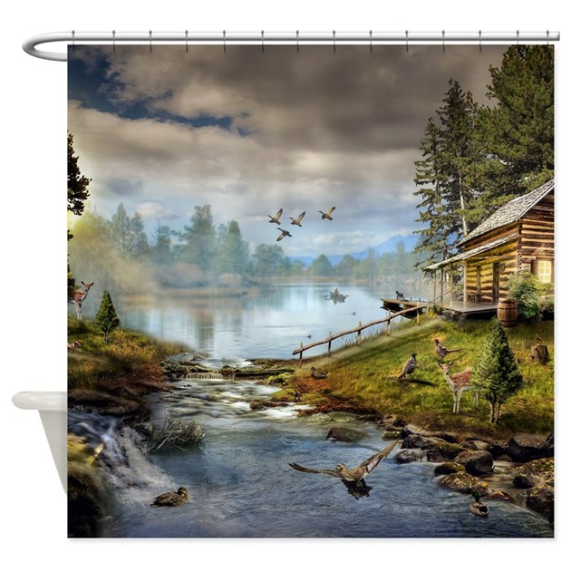 Wildlife Landscape Shower Curtain By FantasyArtDesigns