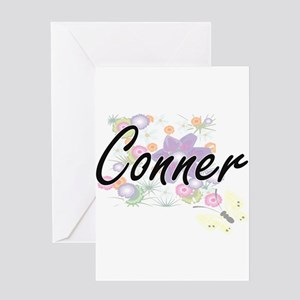 Conner surname artistic design with Greeting Cards