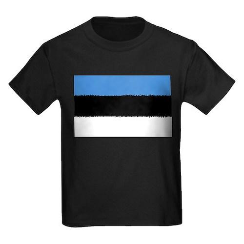 Estonia Flag 8 Bit T-Shirt