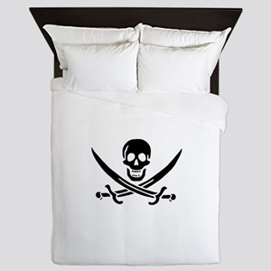 Pirates Logo Flag Queen Duvet