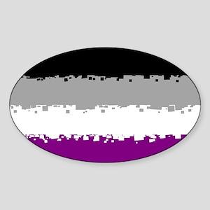Asexual Pride Flag- 8 Bit! Sticker