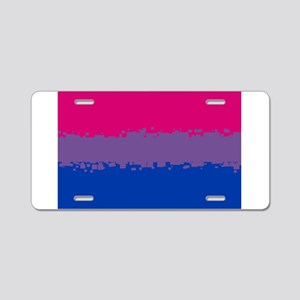 Bi Pride Flag- 8 Bit! Aluminum License Plate