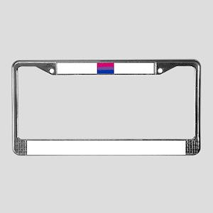 Bi Pride Flag- 8 Bit! License Plate Frame