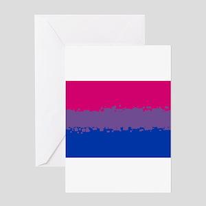 Bi Pride Flag- 8 Bit! Greeting Cards
