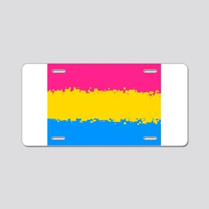 Pansexual Pride Flag- 8 Bit Aluminum License Plate