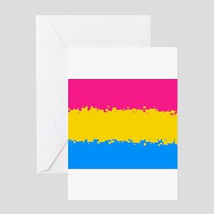 Pansexual Pride Flag- 8 Bit! Greeting Cards
