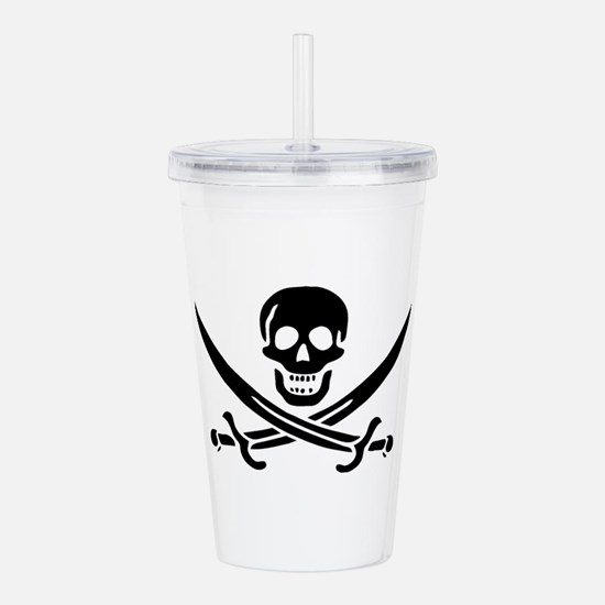 Pirates Logo Flag Acrylic Double-wall Tumbler