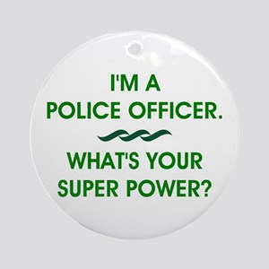 POLICE OFFICER Round Ornament