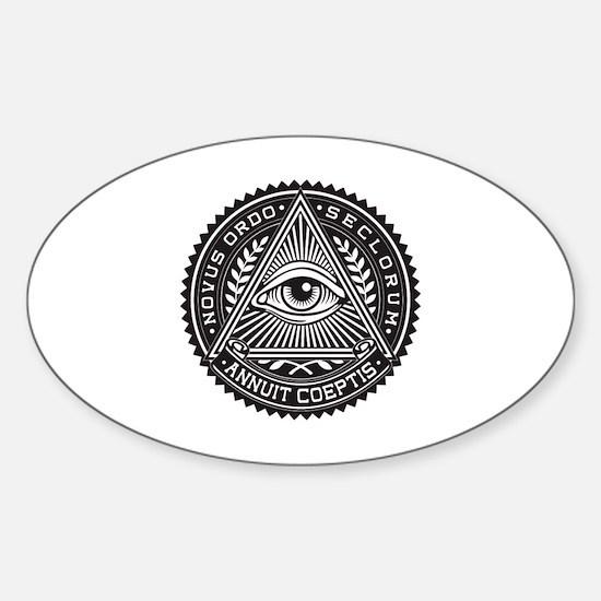 Cute New world order Sticker (Oval)