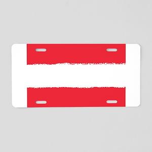 Austria in 8 bit Aluminum License Plate