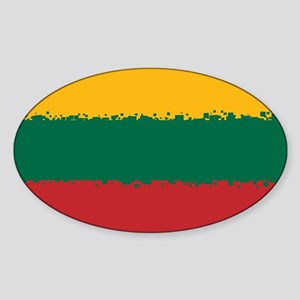8 bit flag of Lithuania Sticker