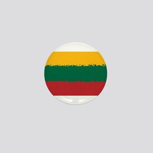 8 bit flag of Lithuania Mini Button