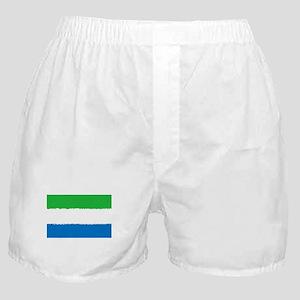 8 bit flag of Sierra Leone Boxer Shorts
