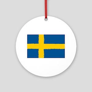 8 bit flag of Sweden Round Ornament