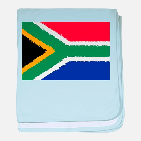8 bit flag of South Africa baby blanket