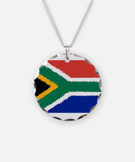 8 bit flag of South Africa Necklace