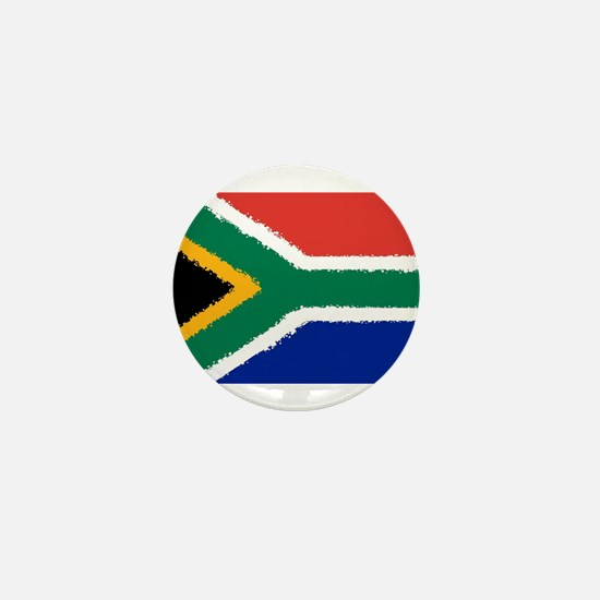 8 bit flag of South Africa Mini Button