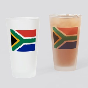 8 bit flag of South Africa Drinking Glass