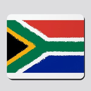 8 bit flag of South Africa Mousepad
