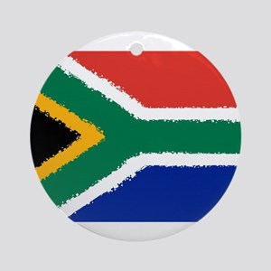 8 bit flag of South Africa Round Ornament