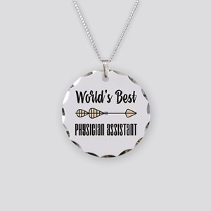 World's Best Physician Assis Necklace Circle Charm